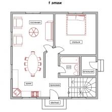 Планировка этажа 1