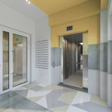 Вход в лифт