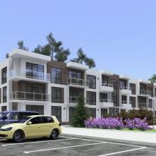 Вид дома и парковки