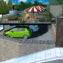 Вид парковки и подъездной путь