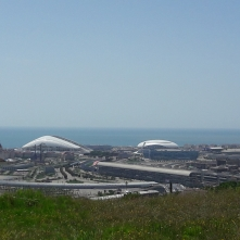 Вид с участка на Олимпийские объекты